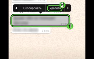 Как удалить переписку в ватсапе у собеседника сразу всю на айфоне без восстановления